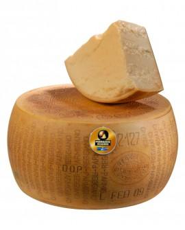 Forma intera Parmigiano Reggiano DOP classico mezzano rigato 13-14 mesi - 38 kg - Montanari & Gruzza
