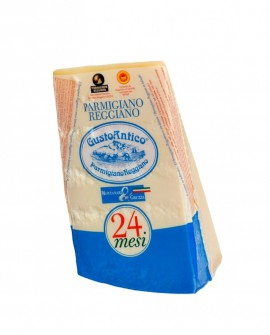 Punta doppia crosta SV Parmigiano Reggiano DOP classico 22-24 mesi - 1 kg - Montanari & Gruzza