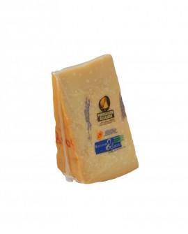 Punta doppia crosta SV Parmigiano Reggiano DOP classico mezzano rigato 13-14 mesi - 500 g - Montanari & Gruzza