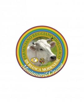 Forma intera Parmigiano Reggiano Biologico Vacca Bianca Modenese 100 mesi - 35-36 kg - Montanari & Gruzza