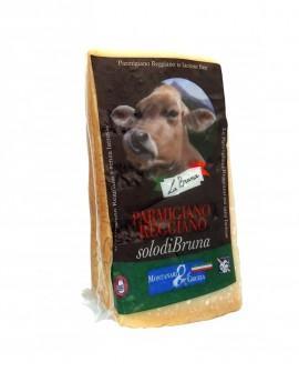 Punta doppia crosta SV Parmigiano Reggiano SolodiBruna Alpina 24 mesi - 1 kg - Montanari & Gruzza