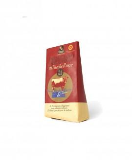Punta doppia crosta incartato a mano Parmigiano Reggiano Vacche Rosse 22-24 mesi - 500 g - Montanari & Gruzza