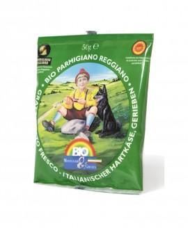 Grattuggiato Parmigiano Reggiano Dop BIOLOGICO, busta 50g - Montanari & Gruzza