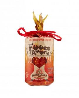 Condimento piccante a base di Peperoncino Naso di cane - 280 g - Fuoco d'Amore - Cuore - Delizie di Calabria