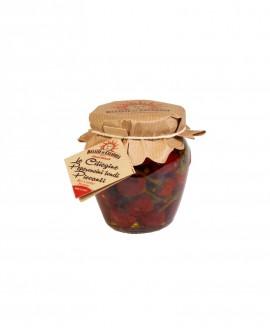 Peperoncino Ciliegino a Mazzetti (ceraseddu) orcio - 180 g - Delizie di Calabria