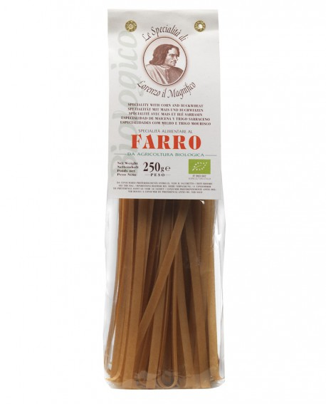FARRO 100% 250 gr Lorenzo il Magnifico - Tagliatelle Pasta BIOLOGICA - Antico Pastificio Morelli