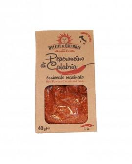 Peperoncino di calabria essiccato macinato astuccio - 40 g - Delizie di Calabria