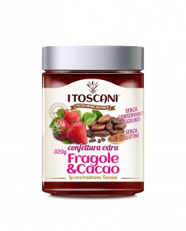 Confettura extra di fragole e cacao senza glutine - 320 gr - Agrifood Toscana