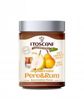 Confettura extra di pere e rum senza glutine - 320 gr - Agrifood Toscana