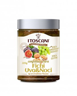 Confettura extra di fichi uva e noci senza glutine - 320 gr - Agrifood Toscana