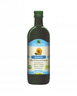 Olio di semi di Girasole biologico spremuto a freddo deodorato - 1 l - Crudigno