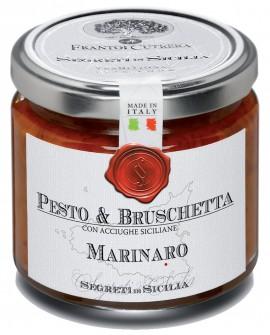 Pesto & Bruschetta Marinaro con acciughe siciliane - vasetto di vetro 212 - 190 g - Frantoi Cutrera Segreti di Sicilia