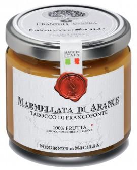 Marmellata di Arance Tarocco di Francofonte - vasetto di vetro 212 - 225 g - Frantoi Cutrera Segreti di Sicilia
