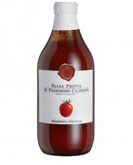Salsa pronta di Pomodoro Ciliegino - bottiglia di vetro 66 ml - Frantoi Cutrera Segreti di Sicilia