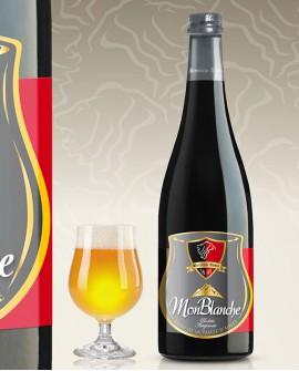 Birra in stile Blanche Belga Monblanche 75 cl - Birrificio Aosta