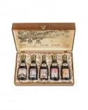 Collezione EXPO Aceto Balsamico di Modena IGP - Cofanetto 5 bottiglie -astuccio legno- 250mlx5 - Giuseppe Giusti Modena dal 1605