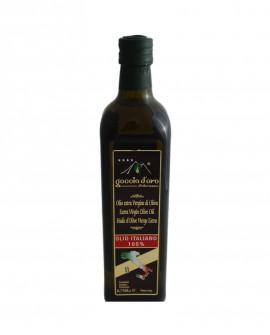 Olio Extra Vergine di Oliva - 100 % Italiano - bottiglia 0,75 lt - Goccia d'Oro d'Abruzzo