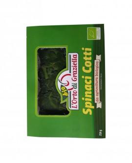 Spinaci biologici cotti - vaschetta 250g sottovuoto - L' Orto di Graziella