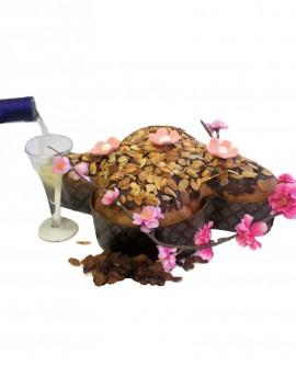 Colomba imbibita con Passito Moscato di Strevi DOC, ricoperta di cioccolato e mandorle 500g - Pasticceria Aliverti