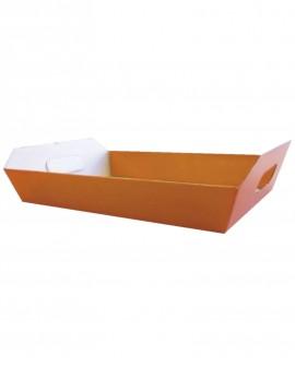 Vassoio steso arancione 32,5x23 H6 - n.25 pezzi - Cesteria M.B. Service