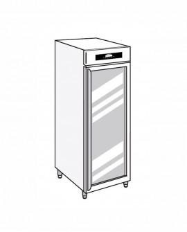 Armadio frigorifero Stagionatore 700 GLASS Salumi - STG ALL 700 GLASS S LCD - Refrigerazione - Everlasting