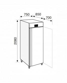 Armadio frigorifero Stagionatore 700 INOX Salumi - STG ALL 700 INOX S ADV - Refrigerazione - Everlasting