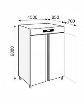 Armadio frigorifero Stagionatore 1500 INOX Carni e Formaggi - STG ALL 1500 INOX CF LCD - Refrigerazione - Everlasting