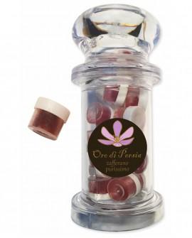 Giara in plastica vetrificata contiene 20 capsule di Zafferano in Polvere da 0,125 grammi cadauna - Oro di Persia