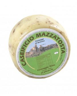 Formaggio Misto al pistacchio - ovino-vaccino 1,4-1,6 Kg - stagionatura 20 giorni - Caseificio Mazzatosta