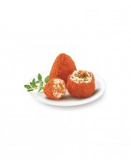 Arancini rossi piccanti con ragù e piselli 130g surgelato - cartone 6 kg - Frittoking