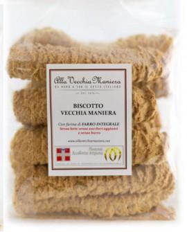 BISCOTTO ALLA VECCHIA MANIERA con farina Integrale - 250g - Pasticceria Alla Vecchia Maniera