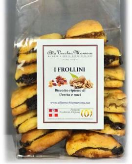 I FROLLINI, biscotto ripieno di uvetta e noci - 250g - Pasticceria Alla Vecchia Maniera