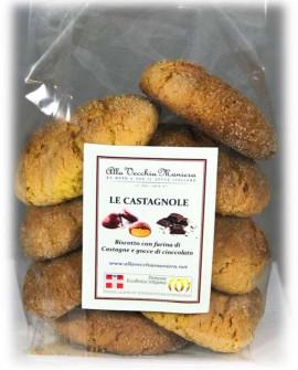 LE CASTAGNOLE, biscotto con farina di castagne e gocce di cioccolato - 150g - Pasticceria Alla Vecchia Maniera