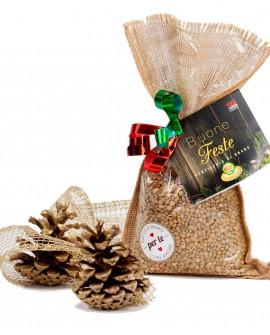 Sacchetto Juta Lenticchia di Onano - confezione regalo - 400g - Perle della Tuscia