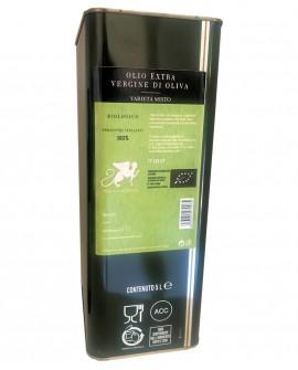 Olio extra vergine d'oliva varietà MISTO Biologico  100% Italiano - Latta 5 lt - Olio Tuscia Villa Caviciana