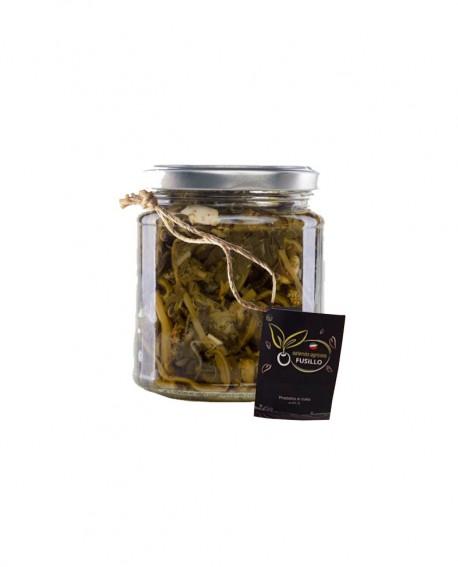 Cime di Rapa alla Pugliese in olio extravergine di oliva - vaso 314 ml - Agricola Fusillo
