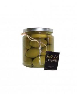 Olive Bella Cerignola in salamoia - pezzatura grande GGG - vaso 314ml - Agricola Fusillo