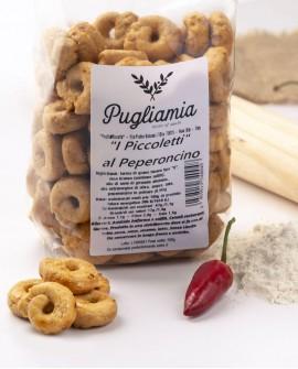 Taralli al Peperoncino artigianali, I Piccoletti - busta 300g - Forno Pugliamia