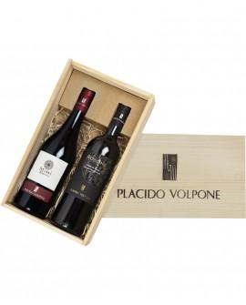 Box regalo in legno Nero di Troia da due bottiglie - Cantina Vini Placido Volpone