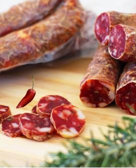 Salsiccia piccante - 350g sottovuoto - stagionatura 30 giorni - Salumi Cembalo