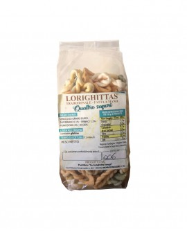 Lorighittas ai Quattro Sapori di semola di grano duro fatta a mano - busta 500g - Pastificio SA LORIGHITTA LONGA