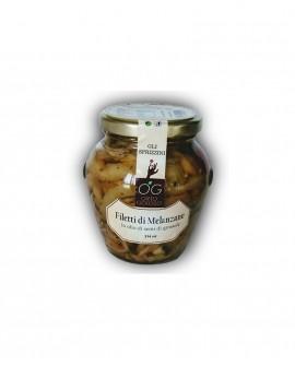 Filetti di Melanzane in olio di semi di girasole - vaso in vetro 314 ml - gli sprizzini - Orto Goloso