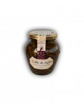 Zolle di Aglio in olio di semi di girasole - vaso in vetro 314 ml - gli sprizzini - Orto Goloso