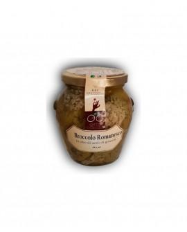 Broccolo Romanesco in olio di semi di girasole - vaso in vetro 314 ml - gli sprizzini - Orto Goloso