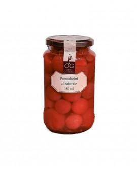 Pomodorini Rossi al Naturale - vaso in vetro 580 ml - gli sprizzini - Orto Goloso