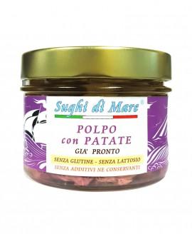 Polpo con patate - vaso vetro 230g - scadenza 24 mesi - Salumi di Mare