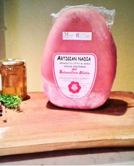 Prosciutto cotto ARTIGIANADIA artigianale, coscia nazionale intero 11 kg - Salumificio Nadia