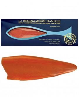 Regina di San Daniele - 1200g baffa intera - Filetto di Trota Salmonata Affumicata a freddo - Friul Trota