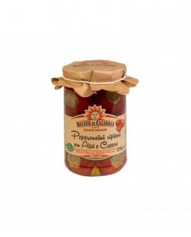 Peperoncini ripieni con Alici e Capperi - 170 g - Delizie di Calabria
