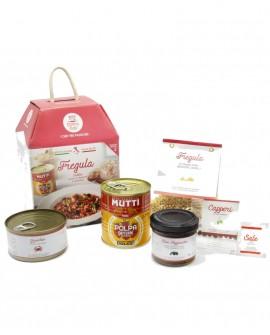 Fregula sarda con polpa di datterini e granchio - chef David Fiordigiglio - 2 porzioni - My Cooking Box